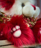 "Cuddles - 14"" Faux Fur Christmas artist bear by Emmas Bears - OOAK"