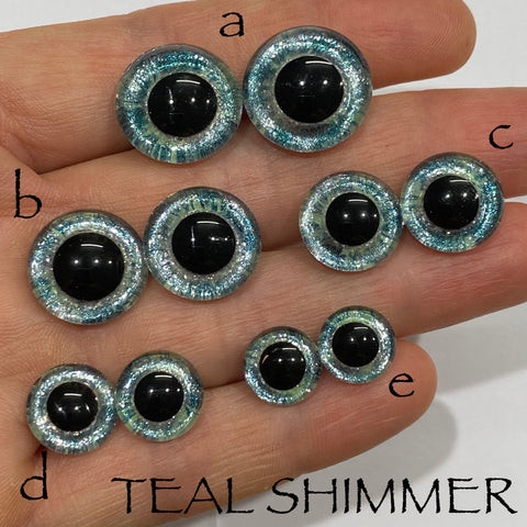 Hand Painted Eyes - Teal Shimmer