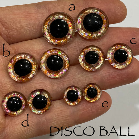 Hand Painted Eyes - Disco Ball