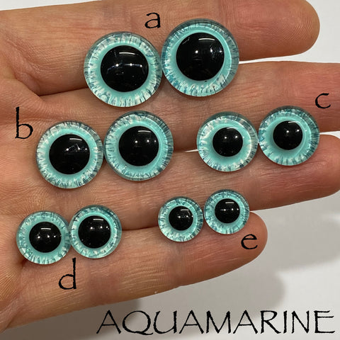 Hand Painted Eyes - Aquamarine
