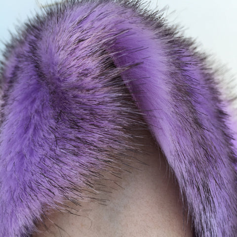 Orchid Kiss - Tipped Faux Mink Style Fur