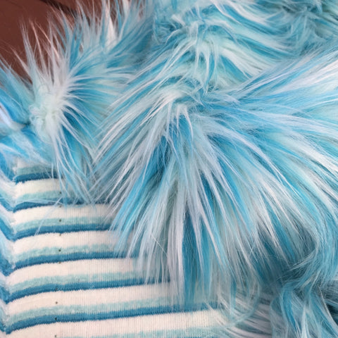 Toothpaste - Multi-tonal Blue Faux Fur