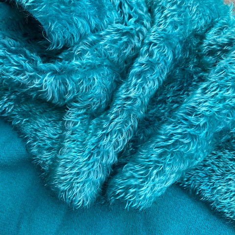 Penny Mohair/Viscose - Hand Dyed Teal - Fat 1/4m - JAN017
