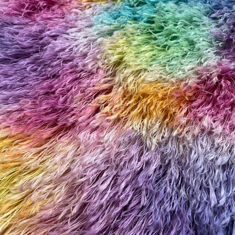 String Mohair - Hand Dyed Rainbow Patches - Fat 1/4m - JAN020