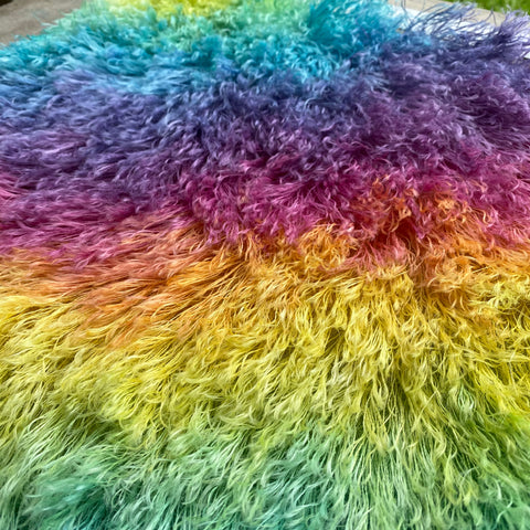 String Mohair - Hand Dyed Rainbow Diagonal - Fat 1/4m - JAN021