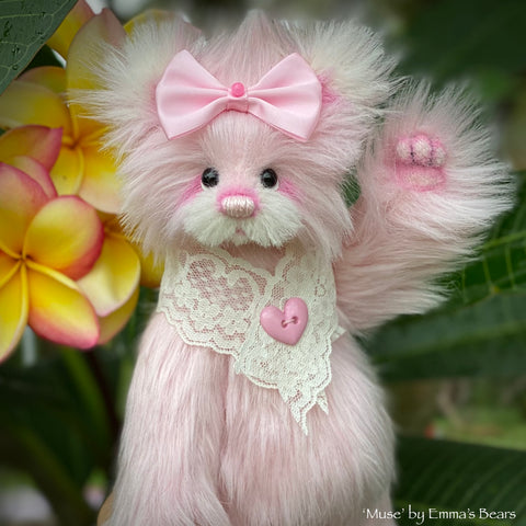 "Muse - 8"" Faux Fur and Alpaca Artist Bear by Emma's Bears - OOAK"