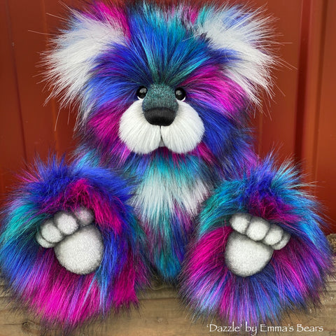 "Dazzle - 15"" faux fur bear by Emmas Bears - OOAK"
