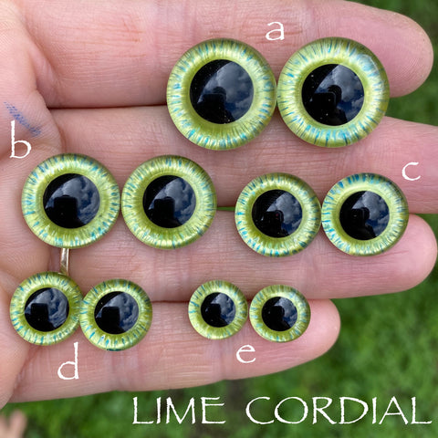 Hand Painted Eyes - Lime Cordial
