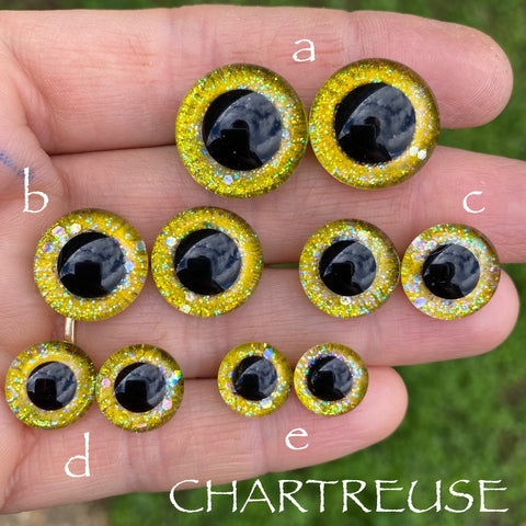 Hand Painted Eyes - Chartreuse