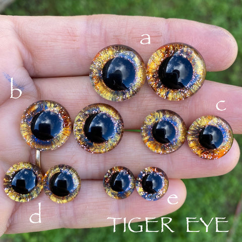 Hand Painted Eyes - Tiger Eye