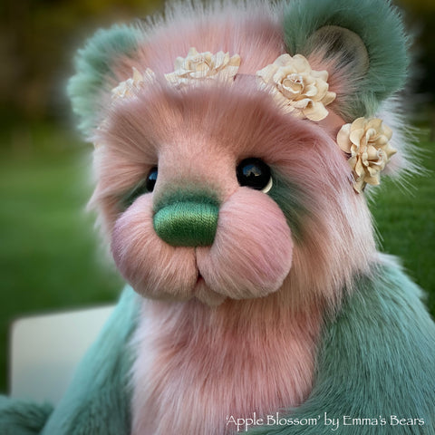 "Apple Blossom - 18"" faux fur artist bear by Emmas Bears - OOAK"