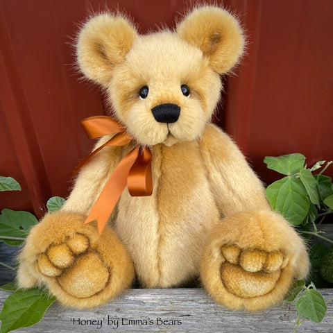 "Honey - 13"" faux fur Artist Bear by Emma's Bears - OOAK"