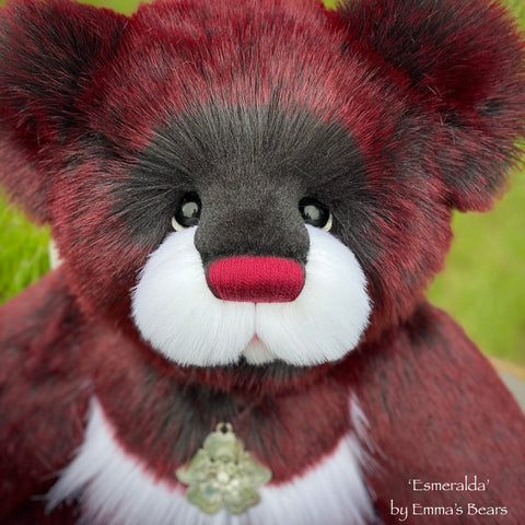 "Esmeralda - 21"" Faux Fur Artist Bear by Emma's Bears - OOAK"