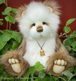 "KITS - 13"" Cappuccino faux fur teddy using Emma's Bears FREE pattern"