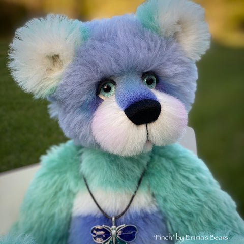 "Finch - 15"" hand dyed Alpaca Artist Bear by Emmas Bears - OOAK"