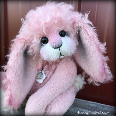 "Indi - 11"" Mohair and Alpaca Artist Bunny by Emma's Bears - OOAK"