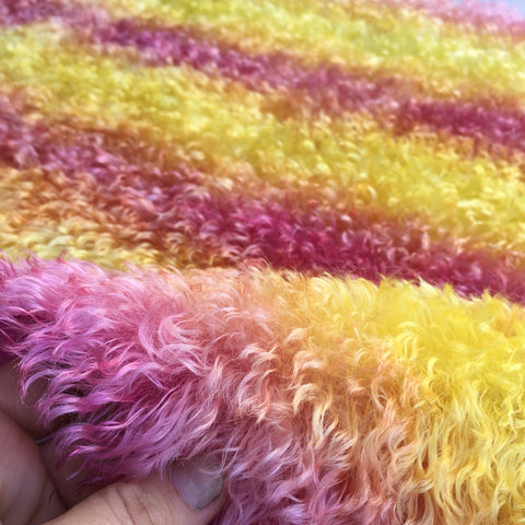 Schulte 30mm wavy Mohair Sunset - Hand Dyed - 1/4m - JAN007