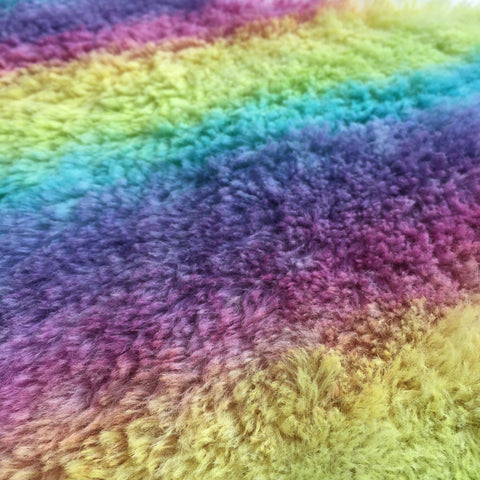 Long Alpaca Rainbow - Hand Dyed - 1/4m - JAN002