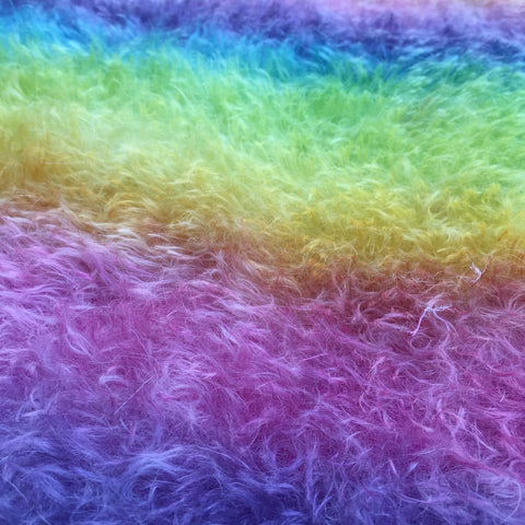 Chelsea's Fur - Hand Dyed Short Sparse Mohair - 1/8m - JAN023