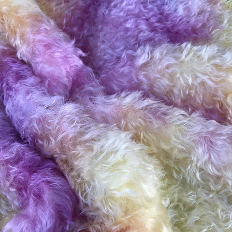 Kid Mohair - Hand Dyed PASTEL SUNSET - Fat 1/4m - JAN032