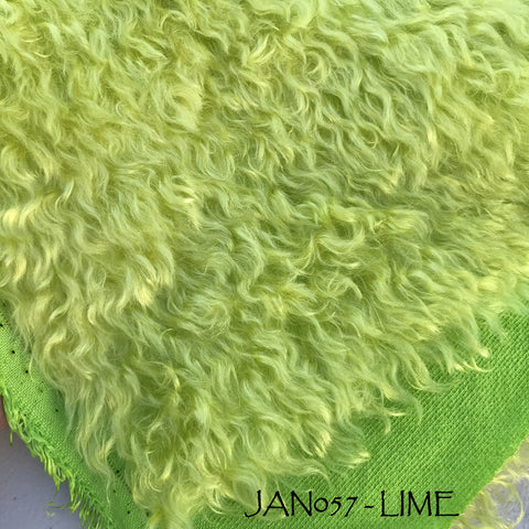 Kid Mohair - Hand Dyed LIME - Fat 1/8m - JAN057