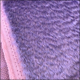 Paisley Purple - dense wavy crimped mohair/viscose blend fur - VERY LIMITED STOCK