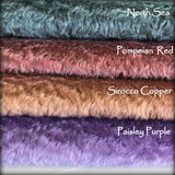 Sirocco Copper - dense wavy crimped mohair/viscose blend fur - VERY LIMITED STOCK