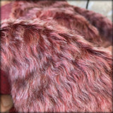 Pompeian Red - dense wavy crimped mohair/viscose blend fur - VERY LIMITED STOCK
