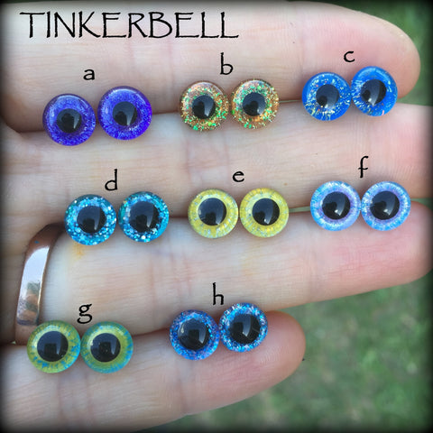 Hand Painted Eyes - Tinkerbell