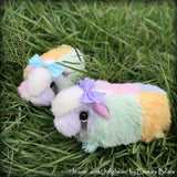 Jeanie and Jellybean - Mother and Daughter Easter Guinea Pigs by Emma's Bears - OOAK