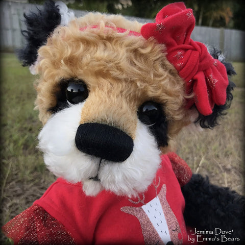 "Jemima Dove - 18"" Christmas 2018 Toddler Artist Bear by Emma's Bears - OOAK"