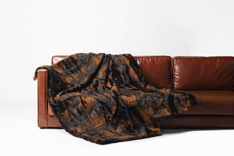 Black Magic Blanket - luxury soft faux fur throw