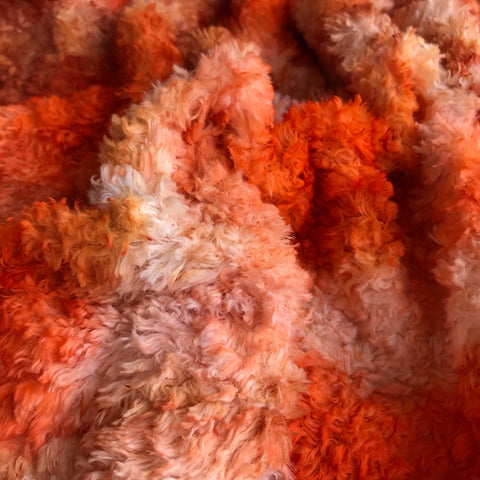 Long Viscose - Hand Dyed Pumpkin Patch - Fat 1/8m - OCT039