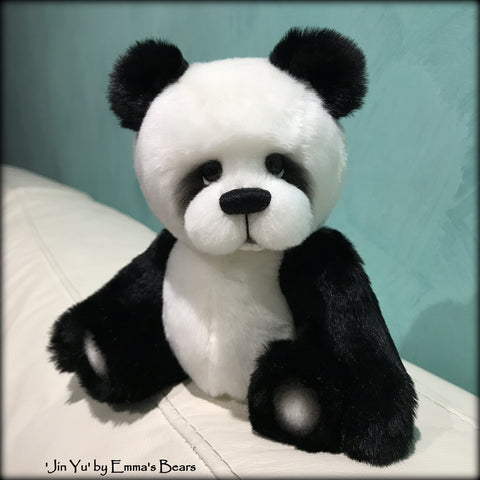"KITS - 9"" Jin Yu faux fur panda bear"