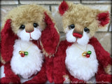 "Kringle - 14"" kid mohair Christmas artist bunny by Emmas Bears - OOAK"