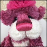 "Linnea 1 of 2 - hand dyed 13"" mohair artist bear by Emma's Bears - LIMITED EDITION"