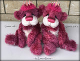 "Linnea 2 of 2 - hand dyed 13"" mohair artist bear by Emma's Bears - LIMITED EDITION"