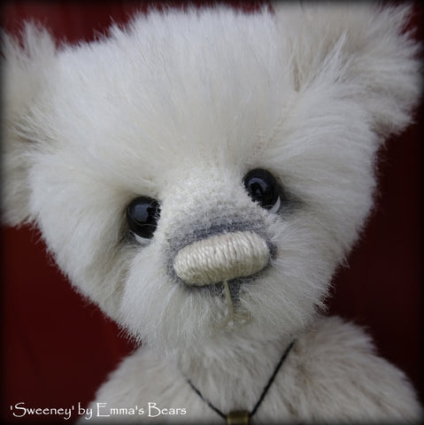 Sweeney - 9in alpaca Artist Panda Bear by Emma's Bears