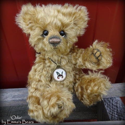 Odie - 9in kid mohair Artist Bear by Emma's Bears