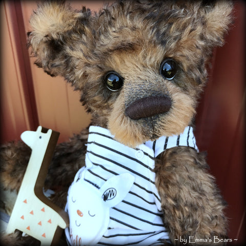 "Toddler Atticus Asher - 18"" Kid MOHAIR Artist toddler style Bear by Emmas Bears - OOAK"
