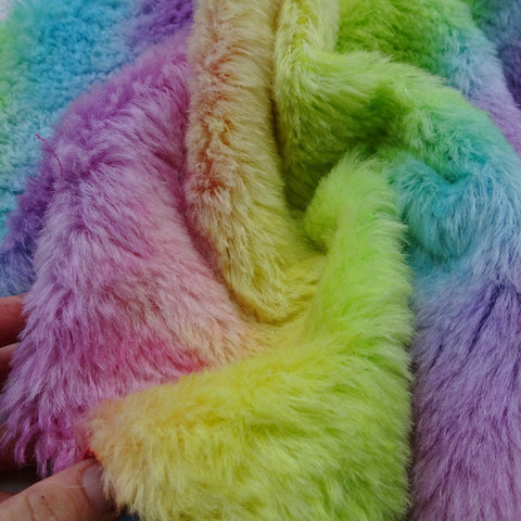 Medium Alpaca Rainbow - Fat 1/4m - Hand Dyed - MAY002