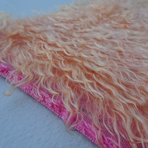 Curlylocks Ruby Grapefruit - Hand Dyed mohair - 1/4m - MAY010