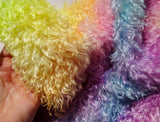 Schulte 30mm wavy Mohair Rainbow - Hand Dyed - 1/4m - MAY026