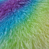 Curlylocks Rainbow - Hand Dyed mohair - 1/4m - MAY027