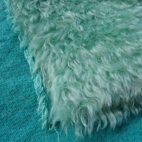 Super Curls Sea Green - Hand Dyed dense mohair - 1/8m - MAY031