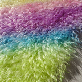 Super Curls Rainbow - Hand Dyed dense mohair - 1/8m - MAY032