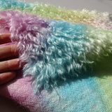 Super Curls Rainbow - Hand Dyed dense mohair - 1/8m - MAY034