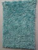 Super Curls Teal Blue - Hand Dyed dense mohair - 1/8m - MAY039