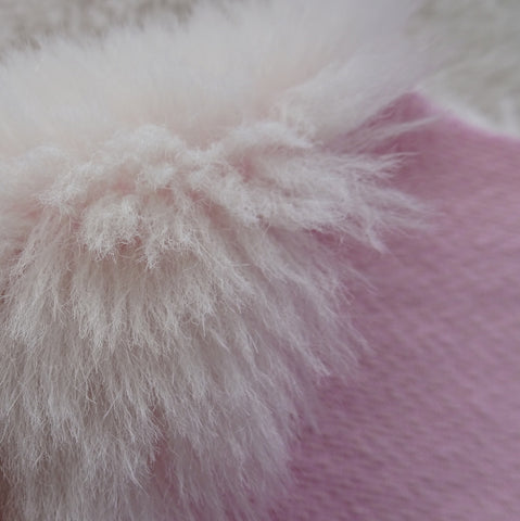 Long Alpaca - Hand Dyed Barely Pink - 1/8m - MAY049