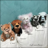 Mable - 11in Brand NEW hand dyed mohair artist bear by Emmas Bears - OOAK